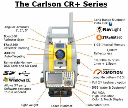 Carlson-CR+ Robotic Total Station